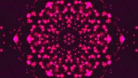 Caleidoscopio con le particelle luminose tremule della viola, fondo generato da computer moderno, rappresentazione 3D stock footage