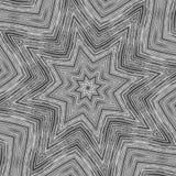 Caleidoscopio de la estrella del metal   Fotografía de archivo