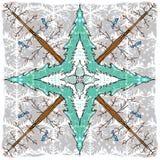 Caleidoscopio degli alberi di inverno Immagine Stock