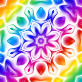 Caleidoscopio del arco iris ilustración del vector