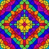 Caleidoscopio del azulejo del arco iris stock de ilustración