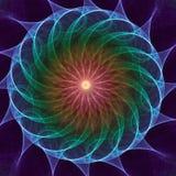 Caleidoscopio del fractal Imagen de archivo