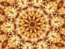 Caleidoscopio del mosaico de luces circulares Imágenes de archivo libres de regalías