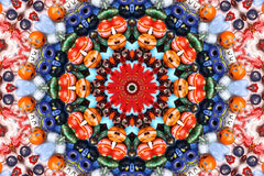 Caleidoscopio di colore e del reticolo Fotografia Stock