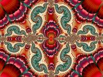 Caleidoscopio Dragon Pattern illustrazione di stock