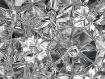 Caleidoscopio estremo del primo piano della struttura preziosa del diamante Immagine Stock