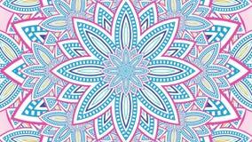 Caleidoscopio floral abstracto ilustración del vector