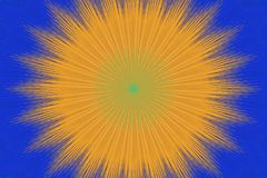 Caleidoscopio floral amarillo-naranja del modelo ceramic stock de ilustración
