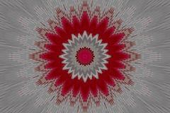 Caleidoscopio geométrico de la mandala del estampado de flores viga stock de ilustración