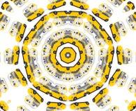 Caleidoscopio giallo dell'automobile del giocattolo Immagine Stock