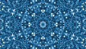 Caleidoscopio morphing blu illustrazione di stock