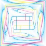 Caleidoscopio multicolor, espiral del centro Fotografía de archivo libre de regalías