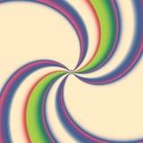Caleidoscopio multicolor, espiral del centro Imágenes de archivo libres de regalías