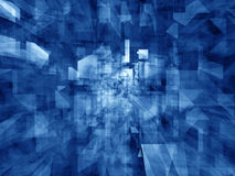 Caleidoscopio - riflessioni blu di cristallo Immagine Stock Libera da Diritti
