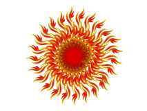 Caleidoscopio - rojo stock de ilustración