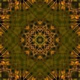 Caleidoscopio suave de Olive Green y del oro Foto de archivo libre de regalías