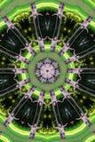 Caleidoscopio verde del duende   Foto de archivo