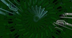 Caleidoscopio verde que hace un modelo