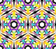 Caleidoscopisch Abstract Bloempatroon stock illustratie