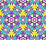 Caleidoscopisch abstract naadloos patroon Royalty-vrije Stock Afbeelding