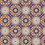 Caleidoscopisch behang naadloos patroon Stock Afbeelding