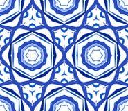 Caleidoscopisch Blauw Bloemornament Royalty-vrije Stock Foto