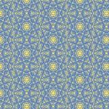Caleidoscopisch Jodenster naadloos patroon Stock Afbeeldingen