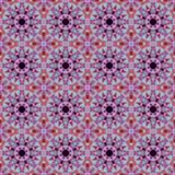 Caleidoscopisch mozaïekpatroon met kristallen Royalty-vrije Stock Fotografie