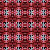 Caleidoscopisch patroon met kristallen Royalty-vrije Stock Fotografie