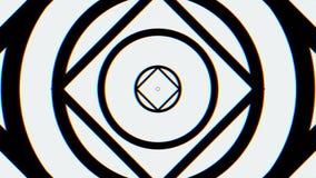 Caleidoscopische animatielijnen eindeloos - groot voor websiteachtergronden Hallucinogene caleidoscoopanimatie vector illustratie