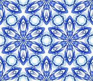 Caleidoscopische Patroon Blauwe Bloem Stock Foto