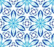 Caleidoscopische Patroon Lichtblauwe Bloem Stock Afbeeldingen