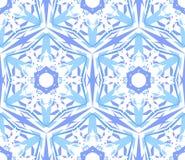 Caleidoscopische Patroon Lichtblauwe Ster Stock Afbeelding