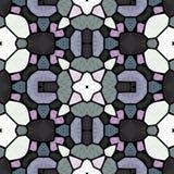 Caleidoscopische veelkleurige naadloze abstracte mandalatextuur stock foto's