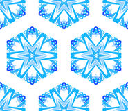 Caleidoscopische Witte Blauwe Bloemachtergrond Stock Afbeelding