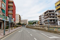 Calella街道在2012年9月20日的。 Calella容纳  免版税图库摄影