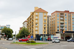 Calella街道在2012年9月20日的。 Calella容纳  免版税库存照片