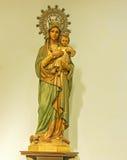 Calella, Ισπανία Μαρία και αγάλματα του Ιησού Στοκ Φωτογραφία