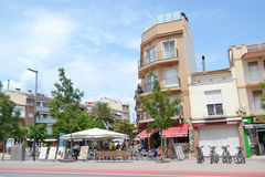 Calella, Costa-Brava beach. Royalty Free Stock Photos