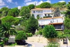 Calella, Costa-Dorada beach, Barcelona. Spain. Royalty Free Stock Photos