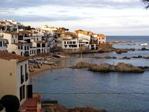 Calella de Palafrugell, Κόστα Μπράβα, Καταλωνία Στοκ Εικόνες