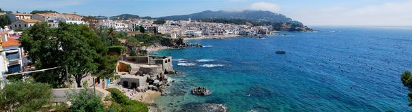 Calella de Palafrugell a beautiful village at the Costa Brava royalty free stock photography