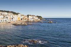 Calella de Palafrugell - côte Brava Images libres de droits