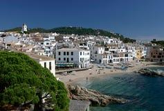 Calella de Palafrugell, côte Brava, Espagne Photographie stock libre de droits