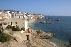 Calella de Palafrugell, Catalogne, Espagne Photographie stock libre de droits