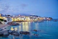 Calella de Palafrugell, Costa Brava, Catalogna, Spagna fotografie stock libere da diritti