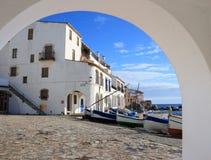 Calella de Palafrugell (costa Brava, España) Fotos de archivo