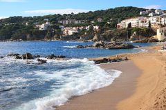 Calella de Palafrugell (Costa Brava, Spain). The beautiful beach of Calella de Palafrugell (Costa Brava, Catalonia, Spain Royalty Free Stock Photo