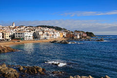 Calella de Palafrugell (Costa Brava, Spain). The beautiful beach and village of Calella de Palafrugell (Costa Brava, Catalonia, Spain Royalty Free Stock Photography