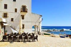 Calella de Palafrugell, Spanien royaltyfria bilder